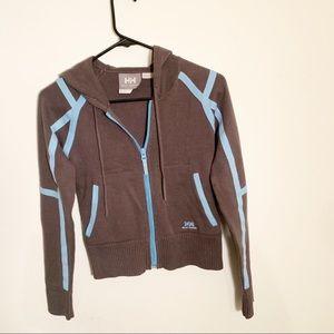 XS Helly Hanson gray sweater hoodie